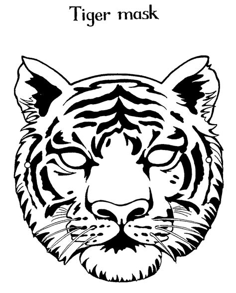 free coloring pages of tiger masks