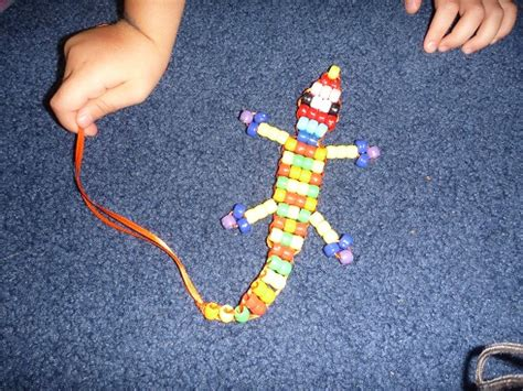 pony bead lizard how to make bead snakes and lizards out of pony
