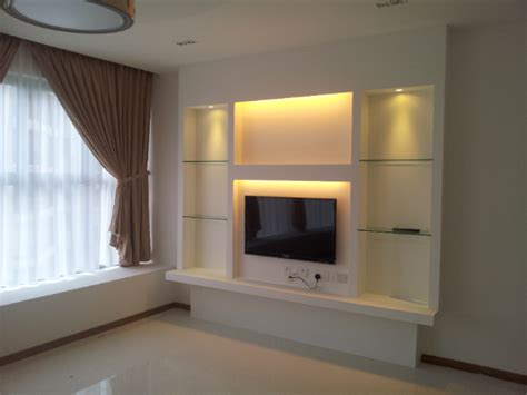 L Lighting by Feature Wall False Ceilings L Box Partitions Lighting Holders