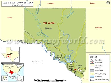 val verde county texas map val verde county map map of val verde county texas