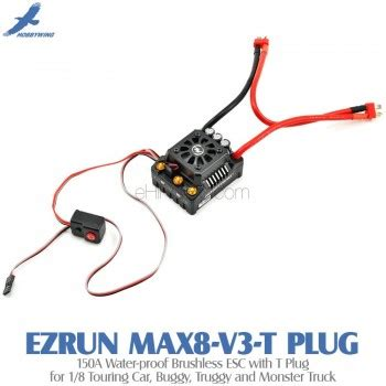 Ezrun Max8 V3 hobbywing ezrun max8 v3 t 150a water proof brushless esc with t for 1 8 touring car