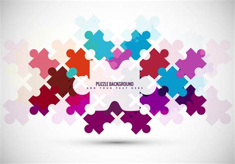 layout puzzle vector puzzle piece vector background download free vector art