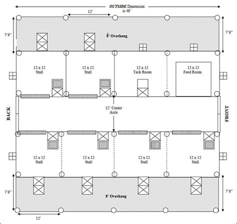 horse barn floor plans easy horse barn floor plan design software cad pro