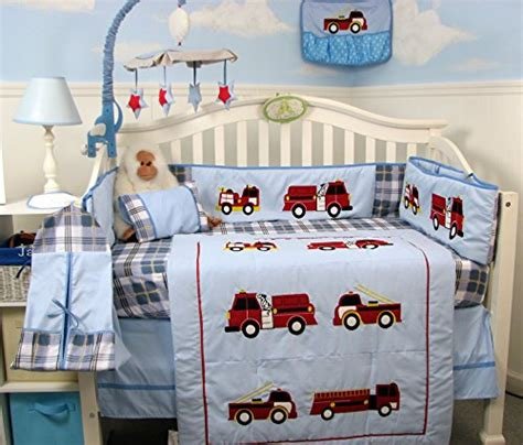 Firetruck Crib Bedding Collection Firetruck Crib Bedding