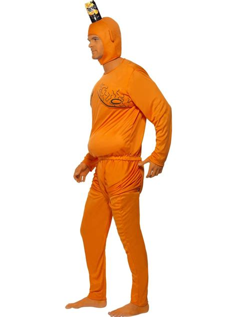 Men's Orange Tango Man Fancy Dress Costume 90s TV Licensed