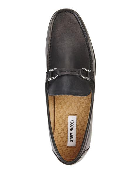 steve madden loafers lyst steve madden black winlock bit loafers in black for