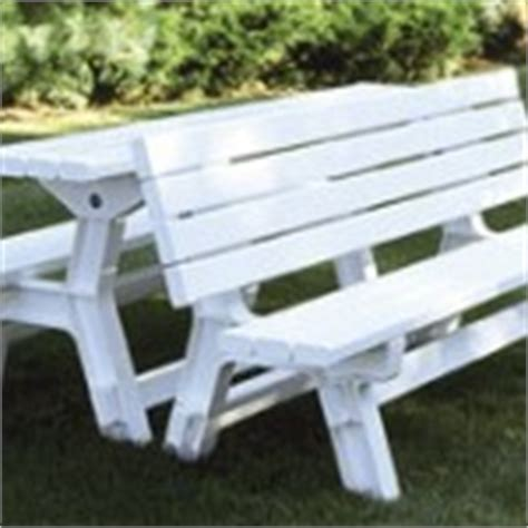 convertible picnic table bench vinyl specialty products 187 wholesale vinyl and aluminum