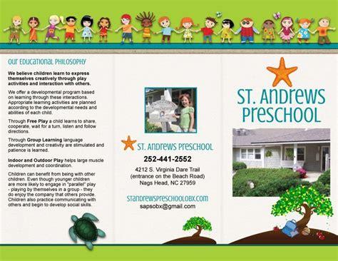 templates brochure kindergarten st andrews preschool trifold brochure marketing