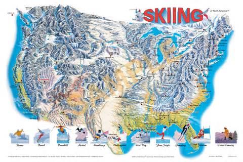 america ski resorts map skiing adventure map