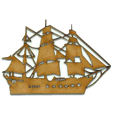 wood pattern enlarger wood galleon boat shape 4 for altered art and craft projects