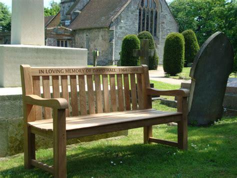 in loving memory bench memorial benches britannia teak bench 1500