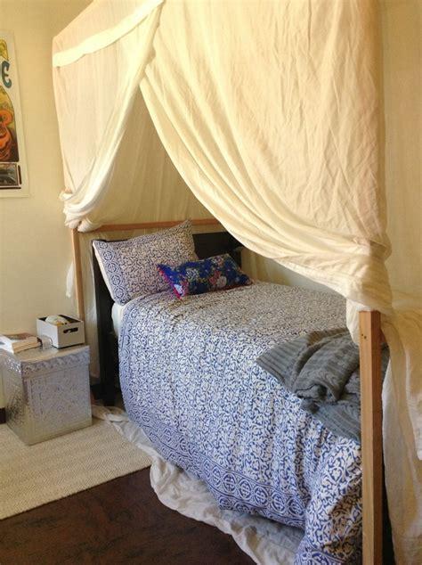 dorm bed tent tour my holistic dorm room