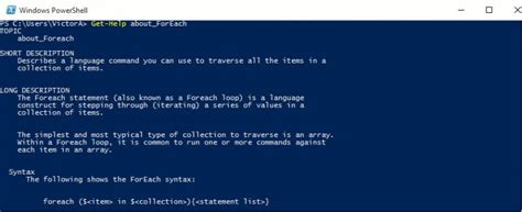powershell your powershell and arduino guidebook books powershell foreach loop applications with exles