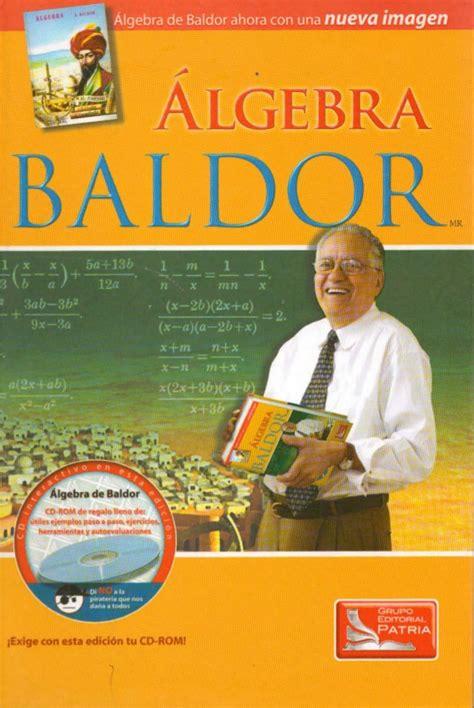 libro de algebra algebra de baldor