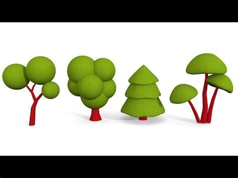 tutorial blender tree blender tutorial how to make cute cartoon trees youtube