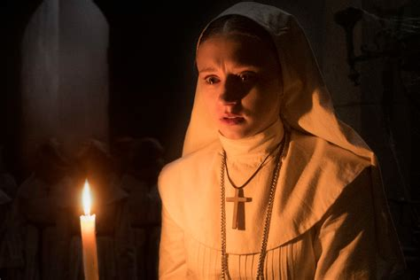 the nun actress real name the nun star barely made it through her own screening