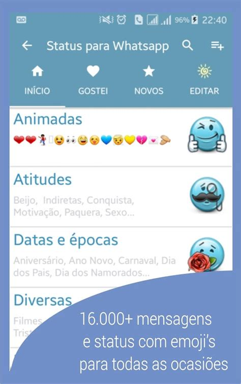 whatsapp status apk frases e status para whatsapp 4 0 3 apk android entertainment apps