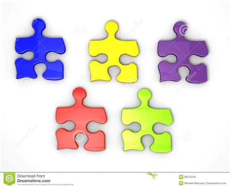 colorful puzzle pieces colorful jigsaw puzzle pieces stock illustration image
