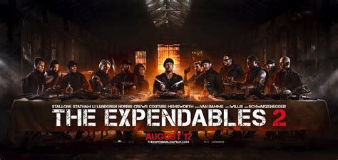 film ultima cina the expendables 2 have their last supper poster