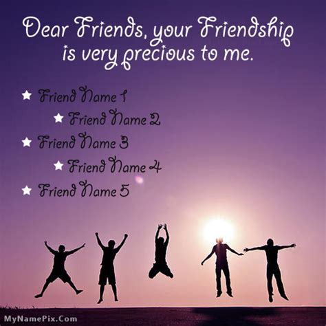 images for friendship precious friends with name