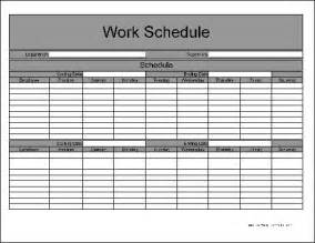 Free Printable Work Schedule Template Free Biweekly Work Schedule Printable Calendar Template 2016