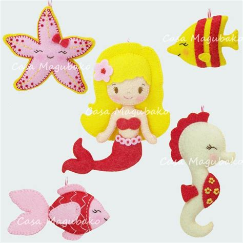 pattern for felt mermaid felt mermaid and friends sewing tutorial by casa magubako