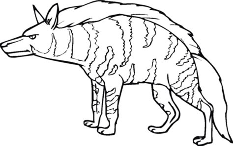 baby hyena coloring page striped hyena coloring page supercoloring com