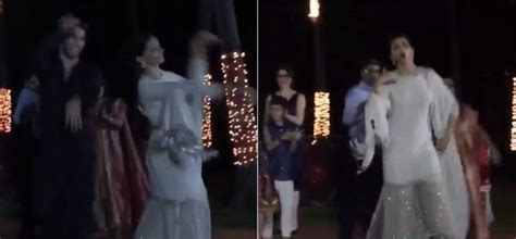 Ranveer Singh Deepika Padukone Perform At Srila Nadir Wedding