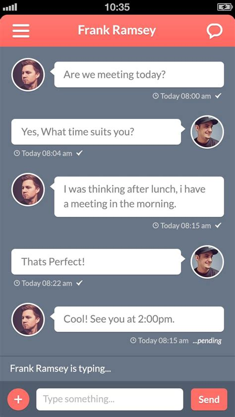 chat wallpaper for mobile 17 best images about mobile ui chat on pinterest