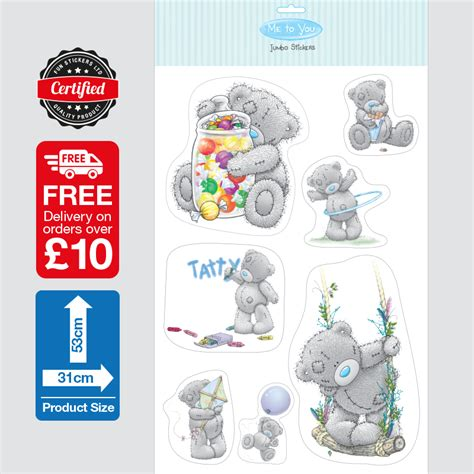 me to you wall stickers me to you tatty teddy stickers 3001 sticker express