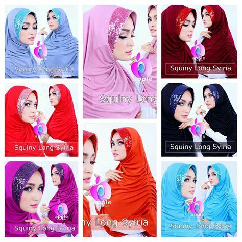 Syiria Hana Pet Jersey jilbab instan squiny by apple brand scarf