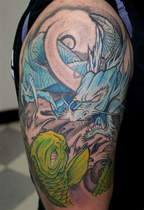 tattoo meanings koi dragon dragon koi tattoo tattoo lawas