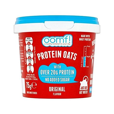 bench pressed oats oomf bench pressed oats original 75g pack of 6