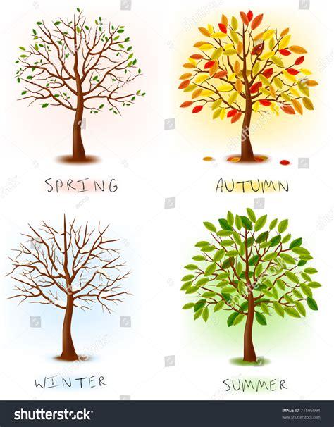autumn season fall tree stock illustration i2767767 at featurepics four seasons summer autumn winter stock vector 71595094