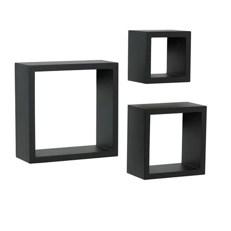 Knape Vogt 4 In X 9 In Floating Black Shadow Box Shadow Boxes With Shelves