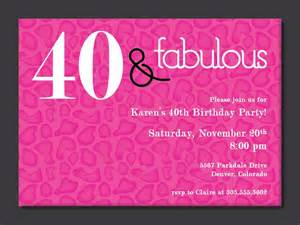 40th invitation templates 40th birthday invitations birthday invitations