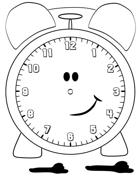printable clock free printable clock coloring pages for kids