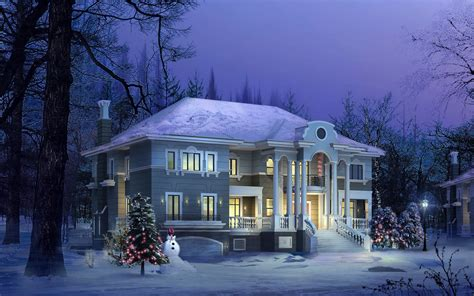 winter homes wallpapers winter wallpapers