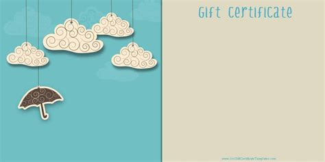 free gift certificate templates printable blank