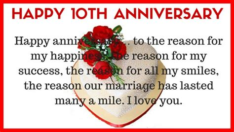 wedding anniversary quotes for from husband 10th wedding anniversary quotes for husband from