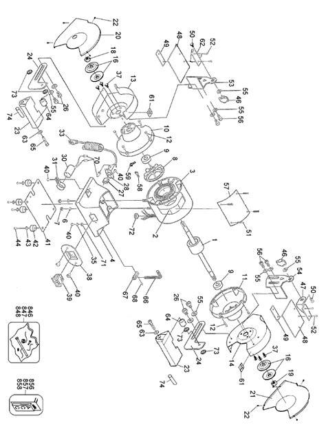dewalt bench grinder parts buy dewalt dw756 6 inch heavy duty bench replacement tool parts dewalt dw756