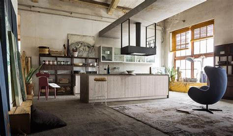 Casa Stile Industriale by Cucina Open Space In Stile Industriale