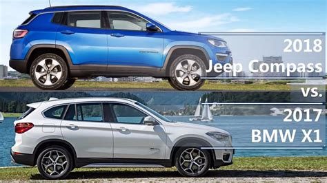 bmw jeep 2017 2018 jeep compass vs 2017 bmw x1 technical comparison