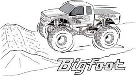 bigfoot monster truck coloring page pinterest the world s catalog of ideas