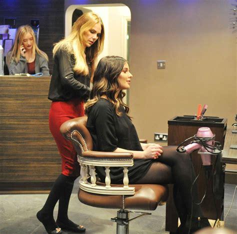 Hair Dressers Manchester by Helen Flanagan At A Hair Salon In Manchester Celebzz