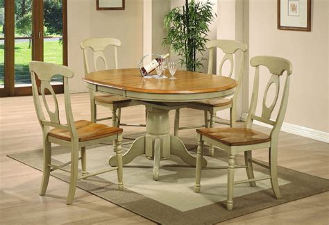 Oval Dining Room Sets Pelican Point Oval Pedestal Dining Room Set In Almond Green 12845 Dining Room Furniture
