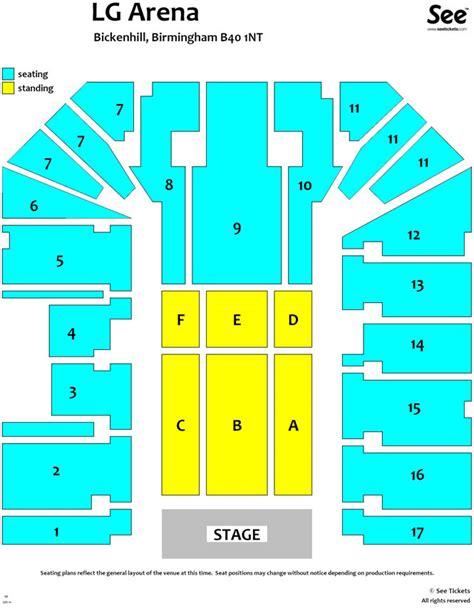 lg arena floor plan genting arena birmingham seating plan images