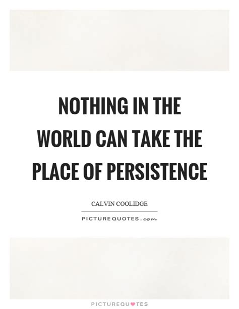 Nothing In The World by Nothing In The World Can Take The Place Of Persistence