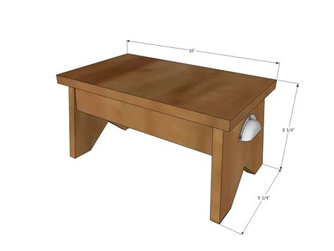 Build A Simple Stool by White Build A Simple 1x10 Single Step Stool Free