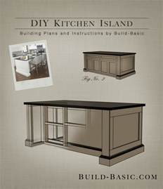Easy Kitchen Island Plans Useful Finesse Cabinet Wood Project